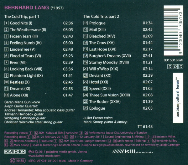 CD 'The Cold Trip' Cover Seite 2